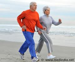 men and woman walking for health