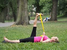 theraband stretch exercise